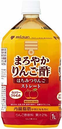 1000ml ×6本 ミツカン まろやかりんご酢 はちみつりんご ストレート 1000ml×6本 機能性表示食品_画像1