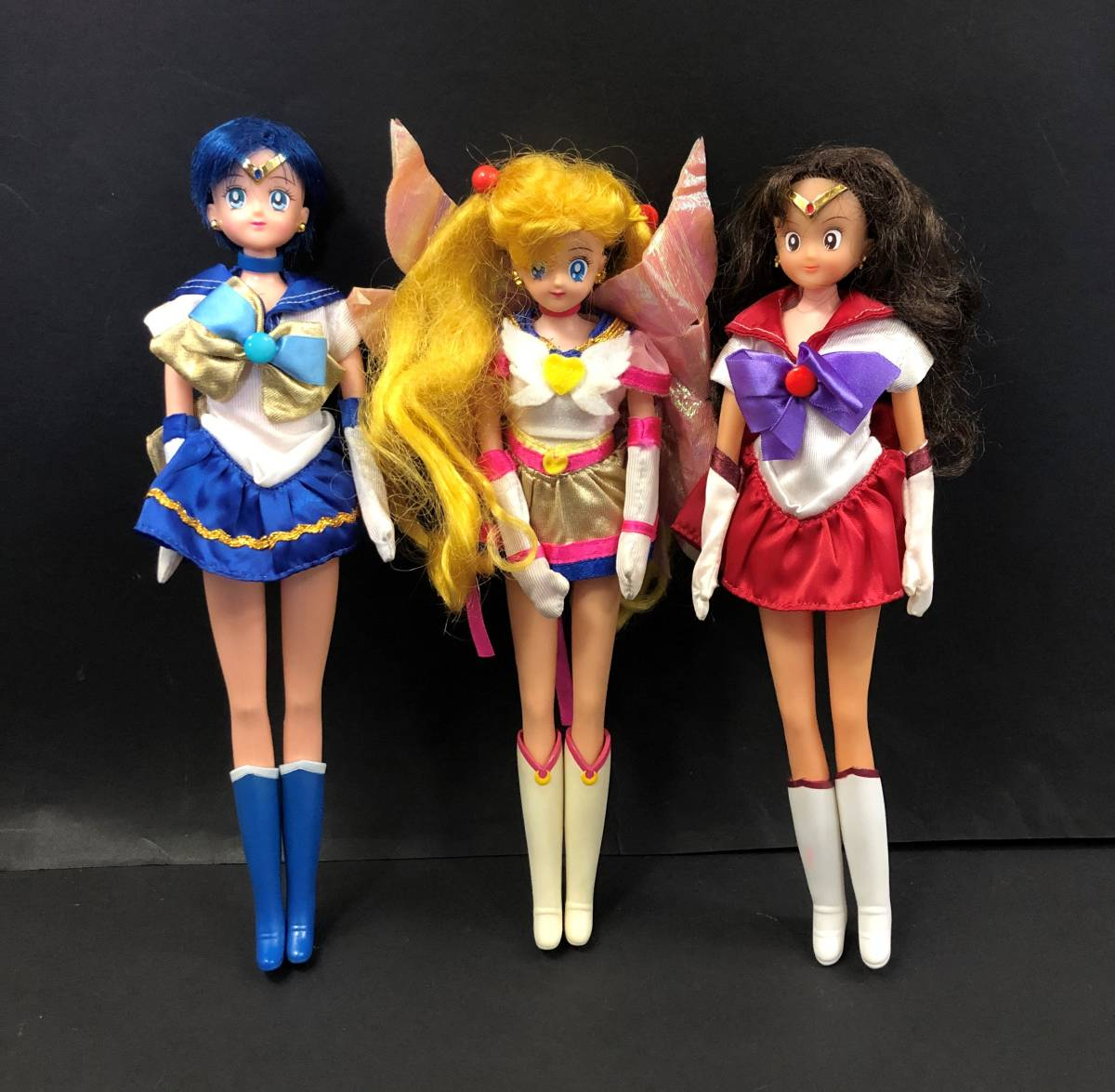 53E 当時物 美少女戦士セーラームーン 人形 3体 まとめて セット 1993 バンダイ BANDAI