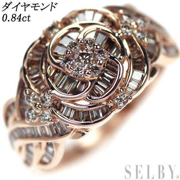 1円~ K18PG ダイヤモンド リング D0.84ct SELBY_画像1