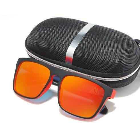 【サングラス】POLARIZED 偏光 レッドミラーレンズ UV400