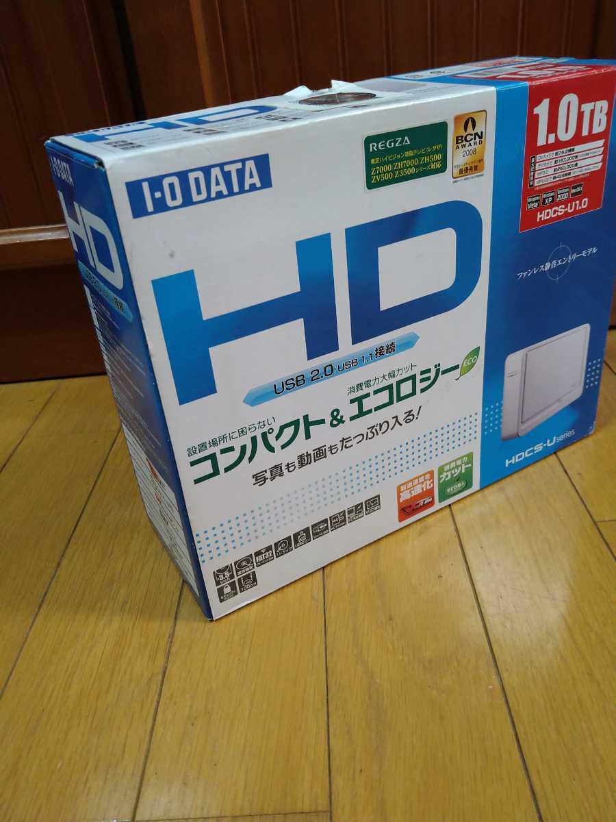 IODATA HDCS-U1.0 USB2.0 USB1.1接続外付け型ハードディスク 未使用品_画像2