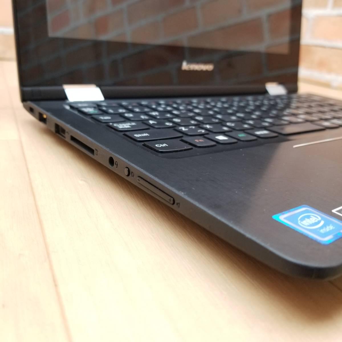 ★2015年モデル・美品★HDD500GB/メモリ4GB/無線Wi-Fi/Webカメラ/最新Office/Win10/高性能Celeron N3050搭載/Lenovo YOGA 300-11IBR(C7438)_★USB2.0搭載★