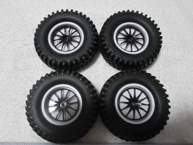 クローラー タイヤホイール オフセット変更できます タミヤCR-01 CC-01等に 中古品_画像2