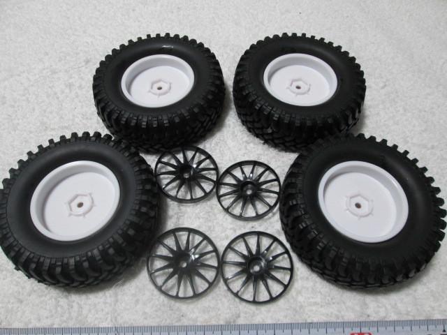 クローラー タイヤホイール オフセット変更できます タミヤCR-01 CC-01等に 中古品_画像5