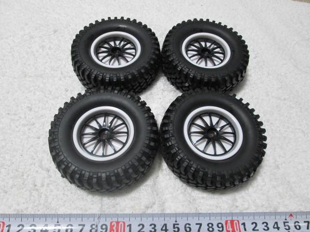 クローラー タイヤホイール オフセット変更できます タミヤCR-01 CC-01等に 中古品_画像6