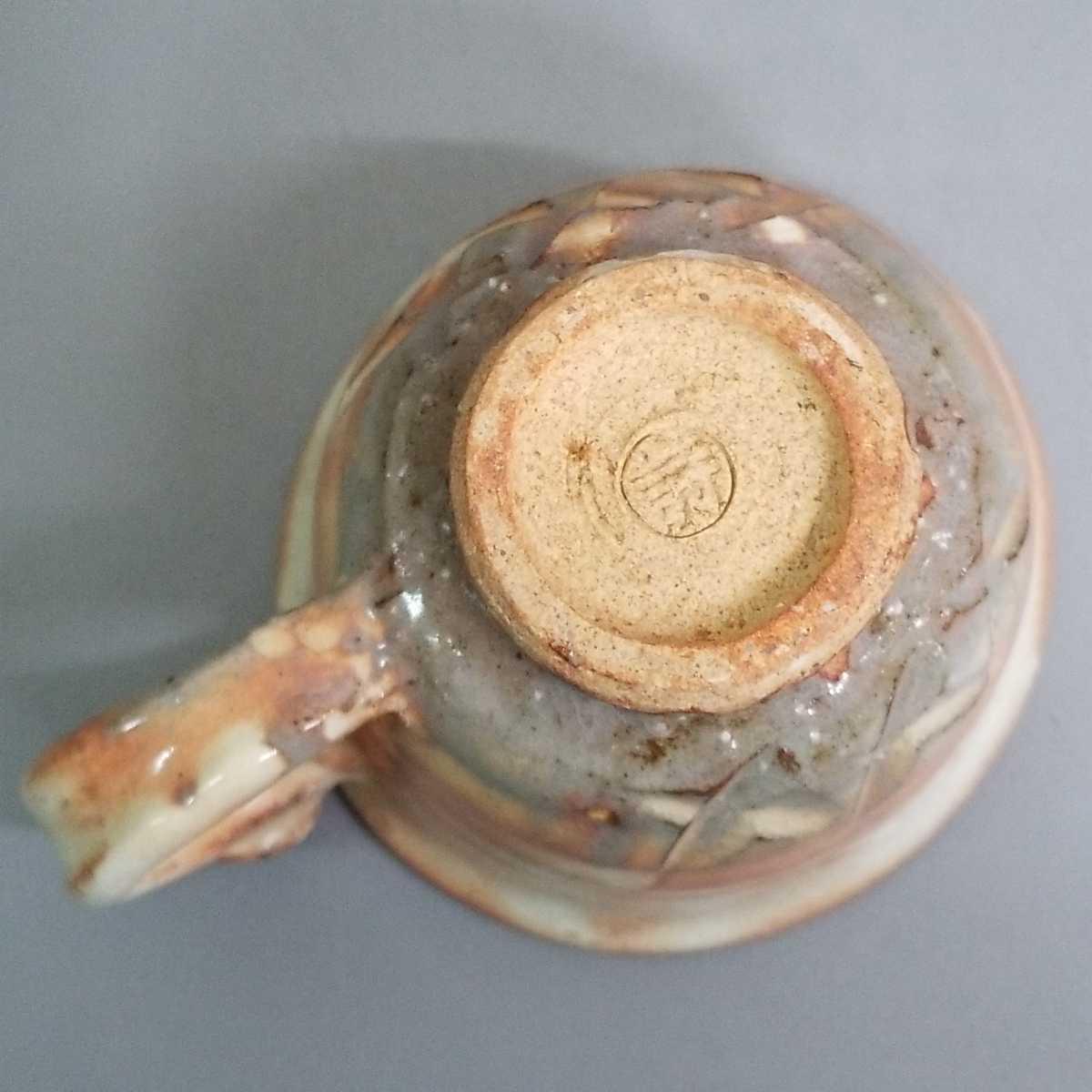 緒61)萩焼 渋谷泥詩 見島コーヒーカップ マグカップ 珈琲器 茶器 未使用新品 同梱歓迎_画像6
