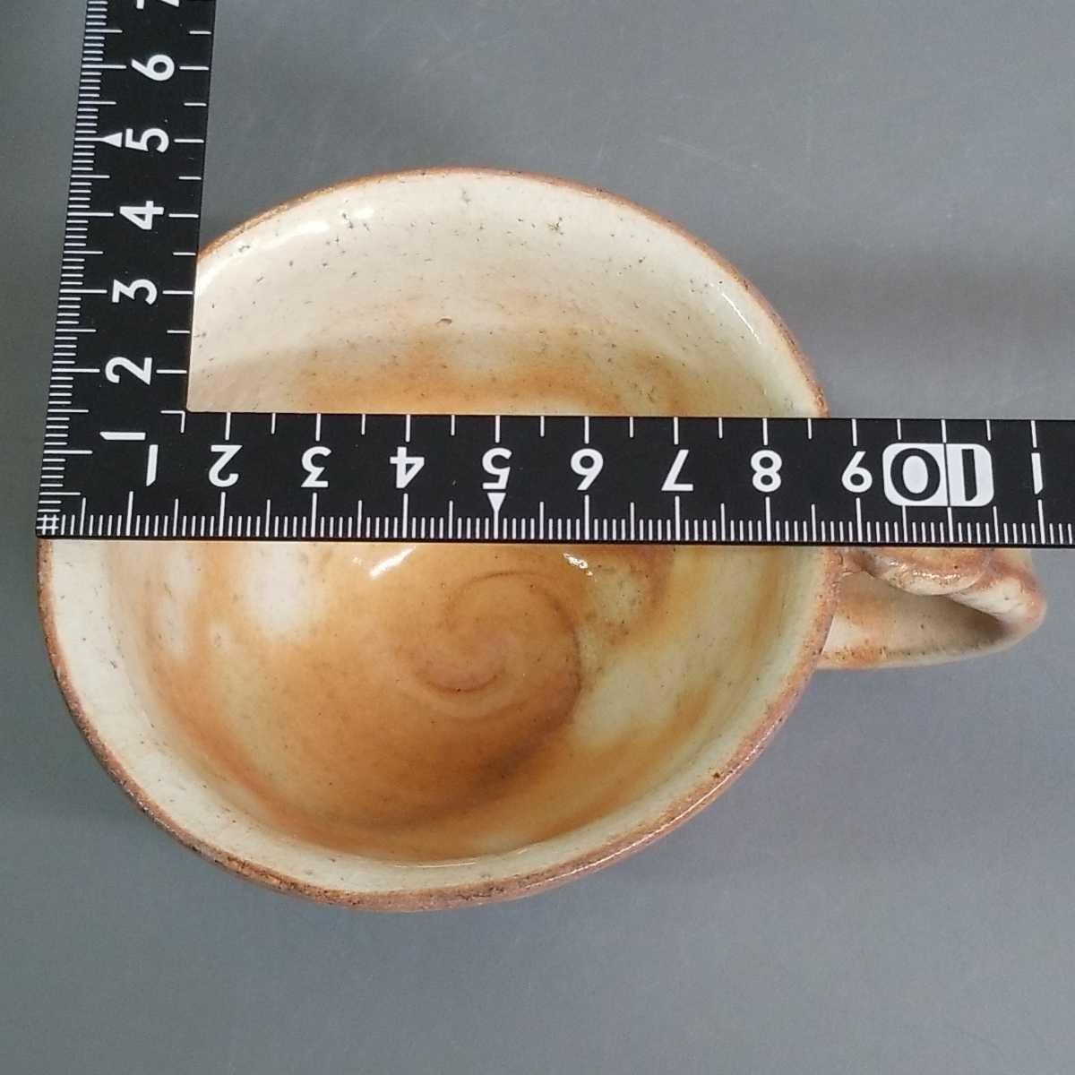 緒62)萩焼 渋谷泥詩 見島コーヒーカップ マグカップ 珈琲器 茶器 未使用新品 同梱歓迎_画像8