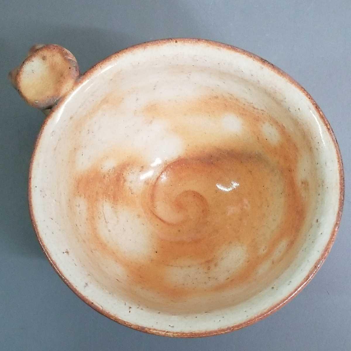 緒62)萩焼 渋谷泥詩 見島コーヒーカップ マグカップ 珈琲器 茶器 未使用新品 同梱歓迎_画像5