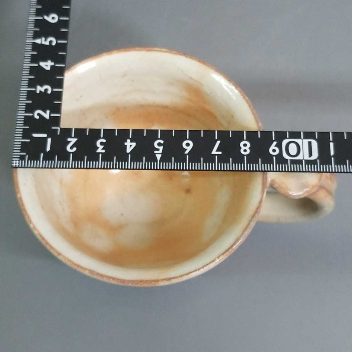 尚50)萩焼 渋谷泥詩 見島コーヒーカップ マグカップ 珈琲器 茶器 未使用新品 同梱歓迎_画像8