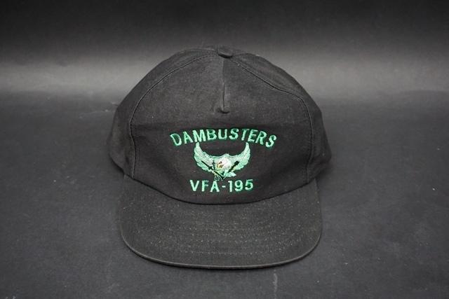 ★ アメリカ海軍 VFA-195 DAMBUSTERS ダンバスターズ 第5空母航空団 識別帽 / キャップ / 帽子 フリーサイズ_画像1