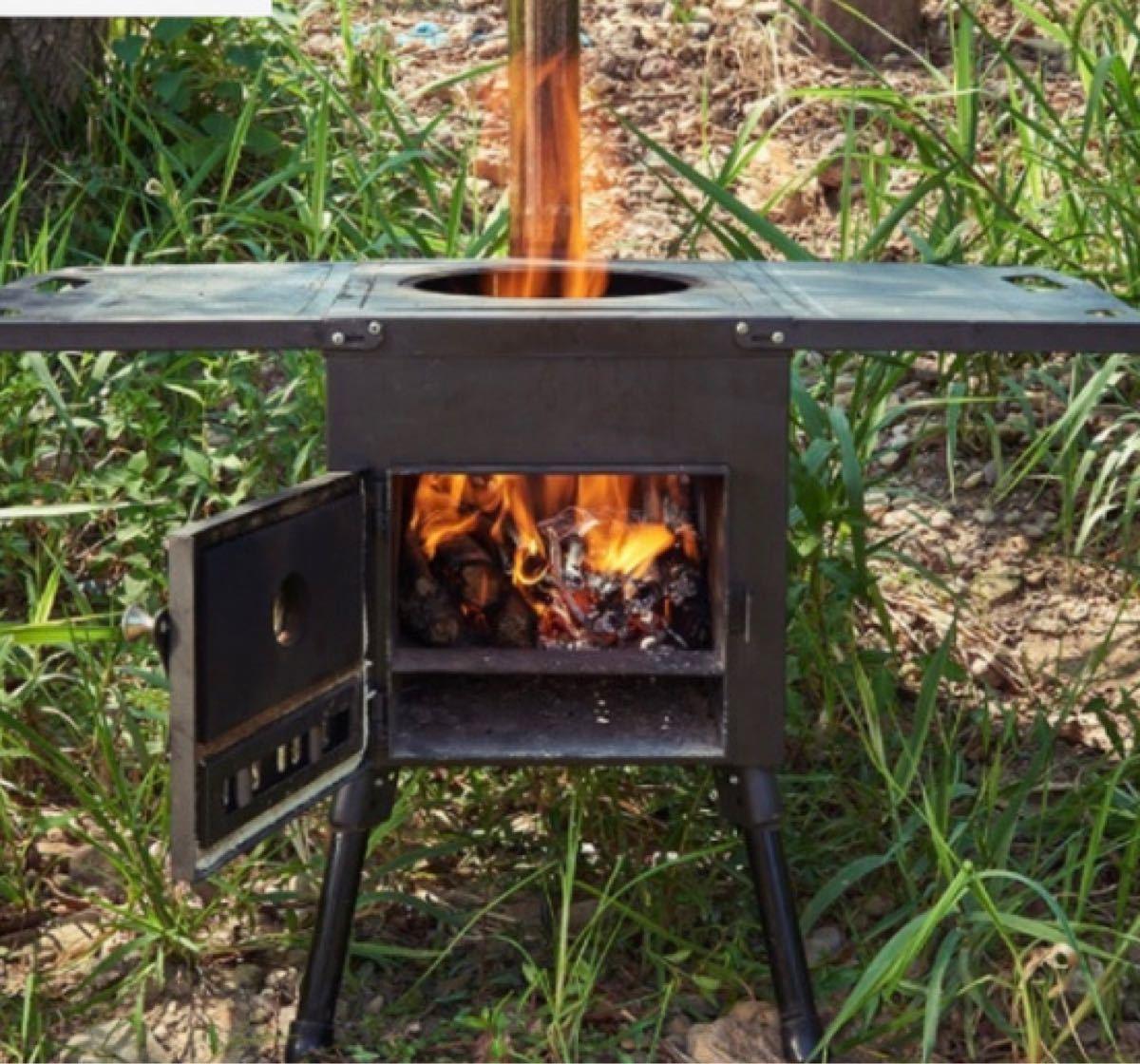 多用途薪コンロ中型版テントストーブバーベキュースチール合金 キャンプ アウトドア