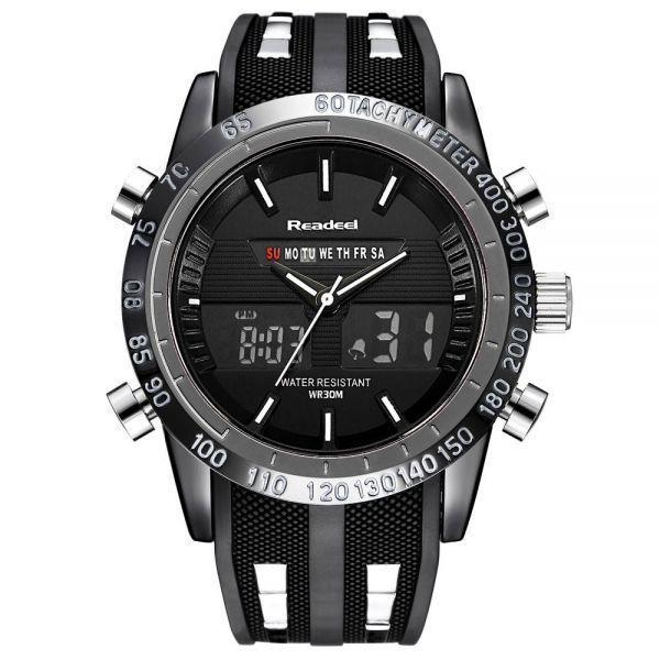 おしゃれ 高級ブランド腕時計メンズ用スポーツ腕時計防水 LED デジタルクォーツメンズミリタリー腕時計時計メンズレロジオ M4033a 414_画像2