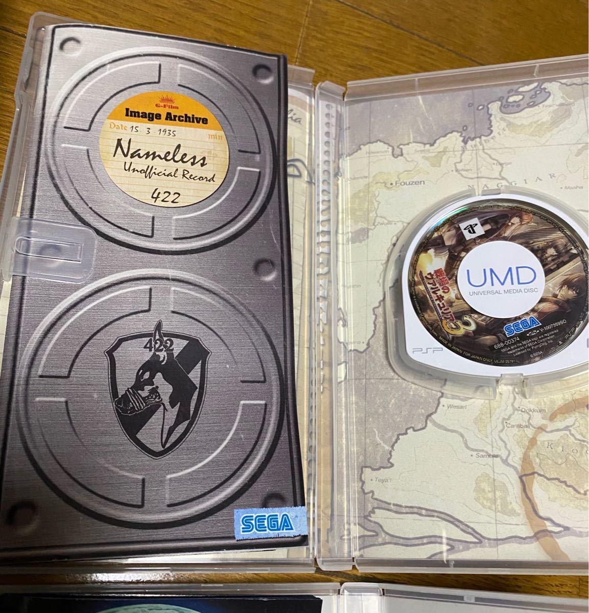 PSP ファイナルファンタジー零式 戦場のヴァルキュリア3 等4本セット