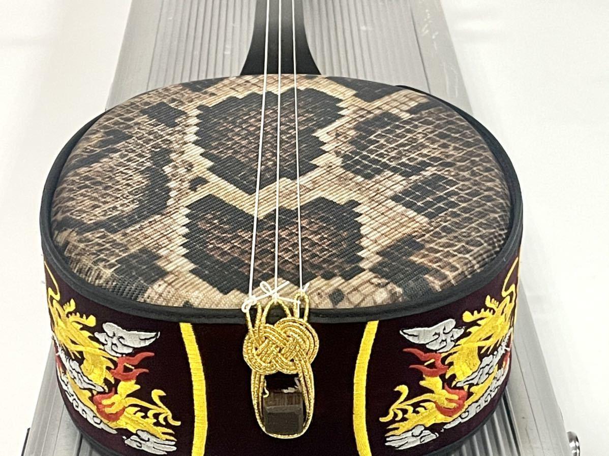 沖縄三線 沖縄三味線 琉球 弦楽器 和楽器 沖縄 縞黒檀 縞黒_画像7