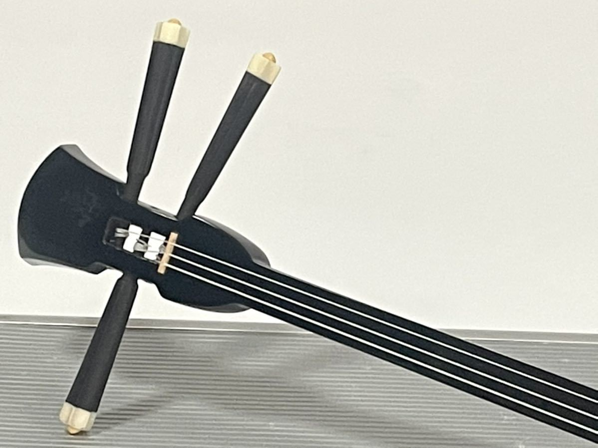沖縄三線 沖縄三味線 琉球 弦楽器 和楽器 沖縄 縞黒檀 縞黒_画像3