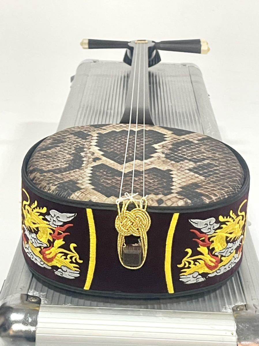 沖縄三線 沖縄三味線 琉球 弦楽器 和楽器 沖縄 縞黒檀 縞黒_画像6