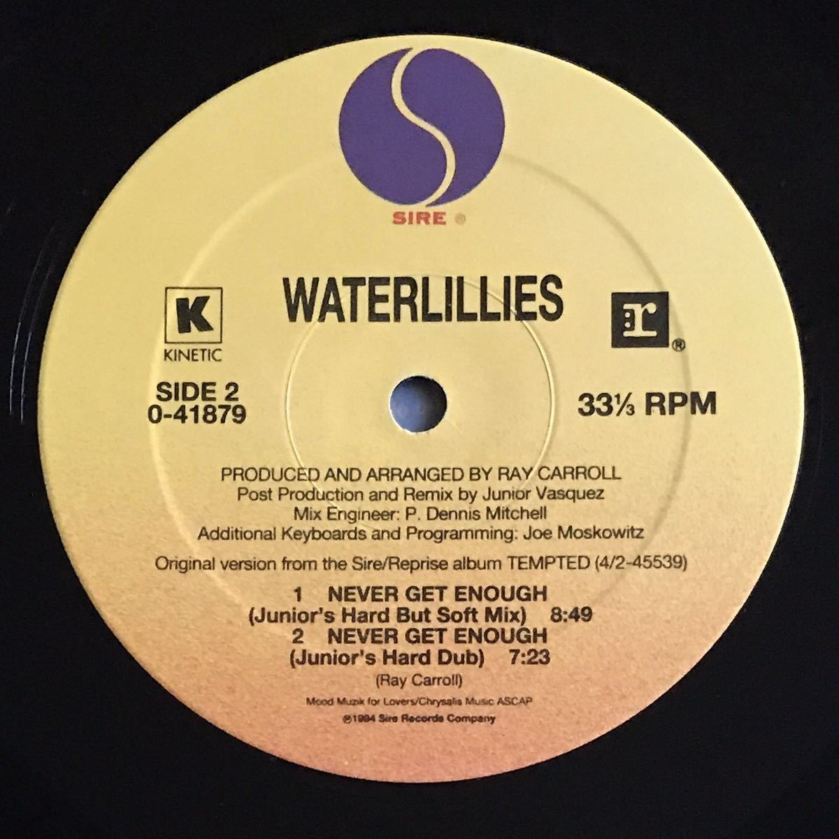 【house】Waterlillies / Never Get Enough[12inch]オリジナル盤《9595》