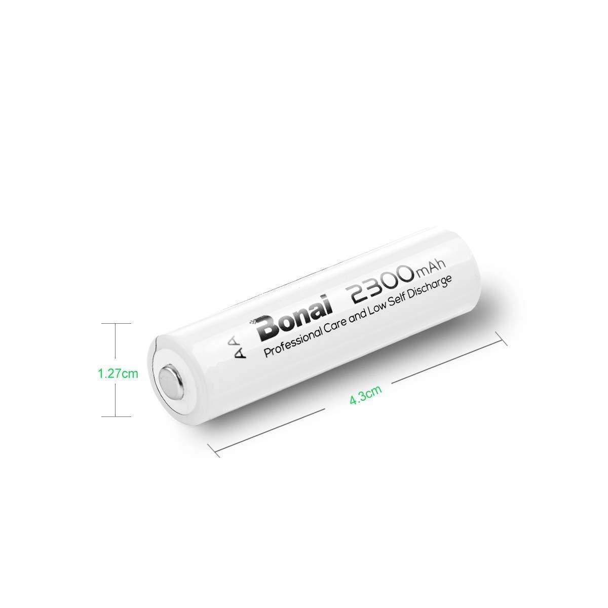 [新品/送料無料] Bonai 単3形 充電池 充電式ニッケル水素電池 16個パック PSE/CEマーキング取得 UL認証済(高容量2300mAh 約1200回使用可)_画像2