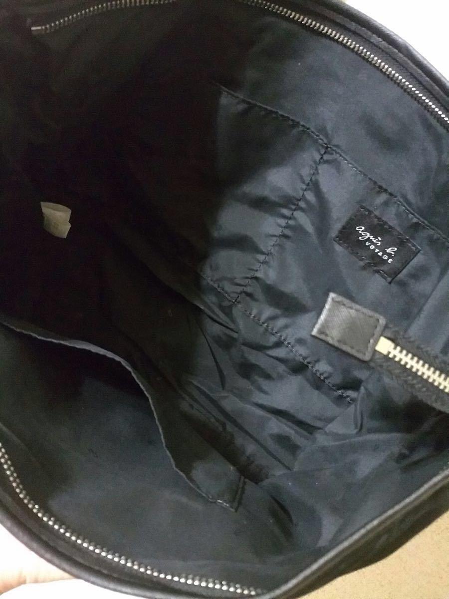 【新品】アニエスベー ポーチ付き 2way トートバッグ ショルダーバッグ ブラック 通勤バッグ レディース ナイロン
