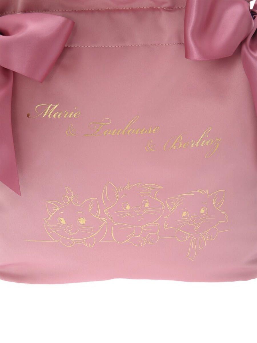 【新品】メゾンドフルール おしゃれキャット マリー ダブルリボン トートバッグ 大きめ トート ショルダーバッグ 母の日 ピンク