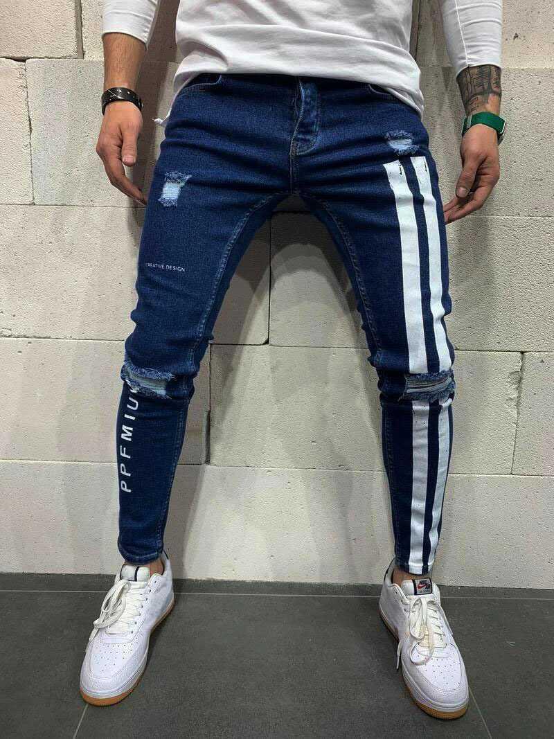 デニム ジョガーパンツ ラインパンツ テーパード ジーンズ L メンズ レディース オルチャン 原宿 韓国 ストリート