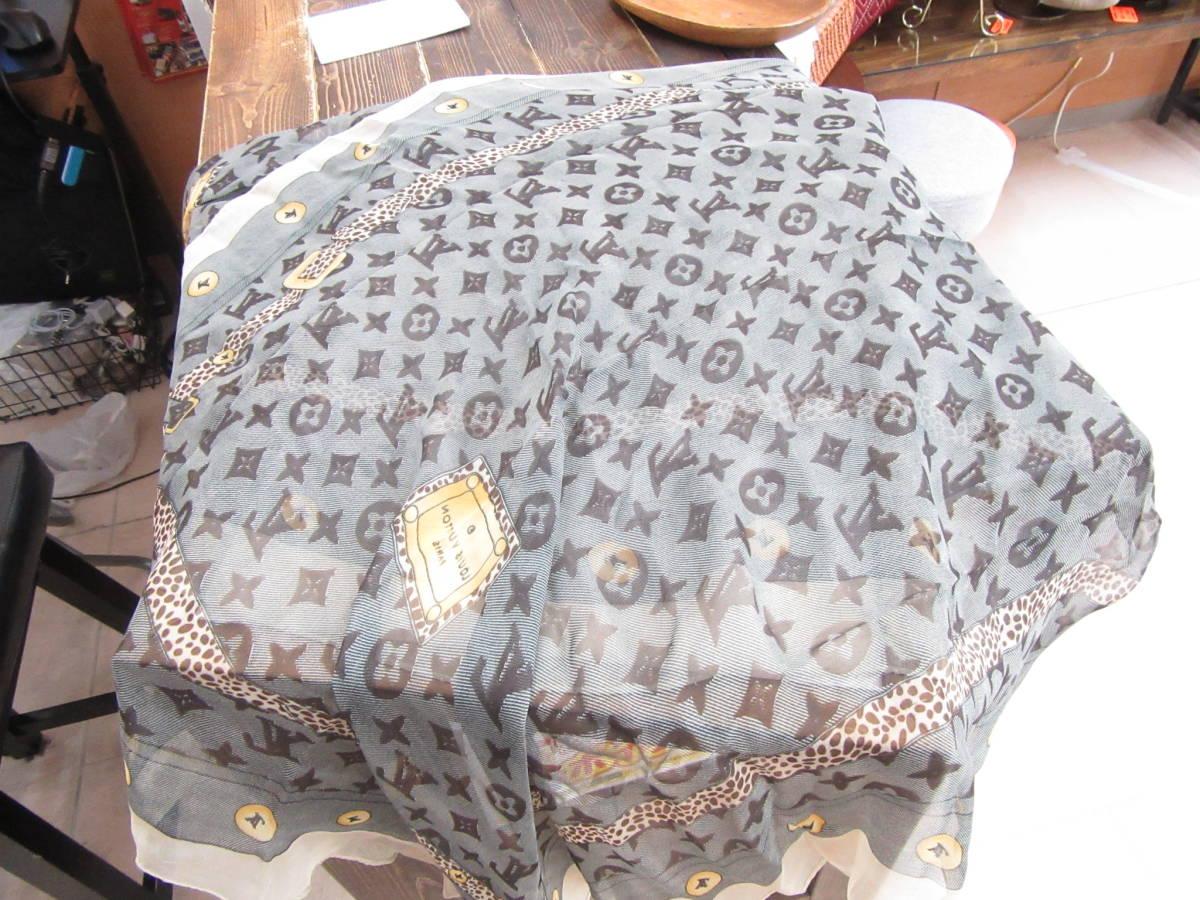 1円~☆Louis Vuitton ルイ ヴィトン スカーフ モノグラム 4-1-12_画像1