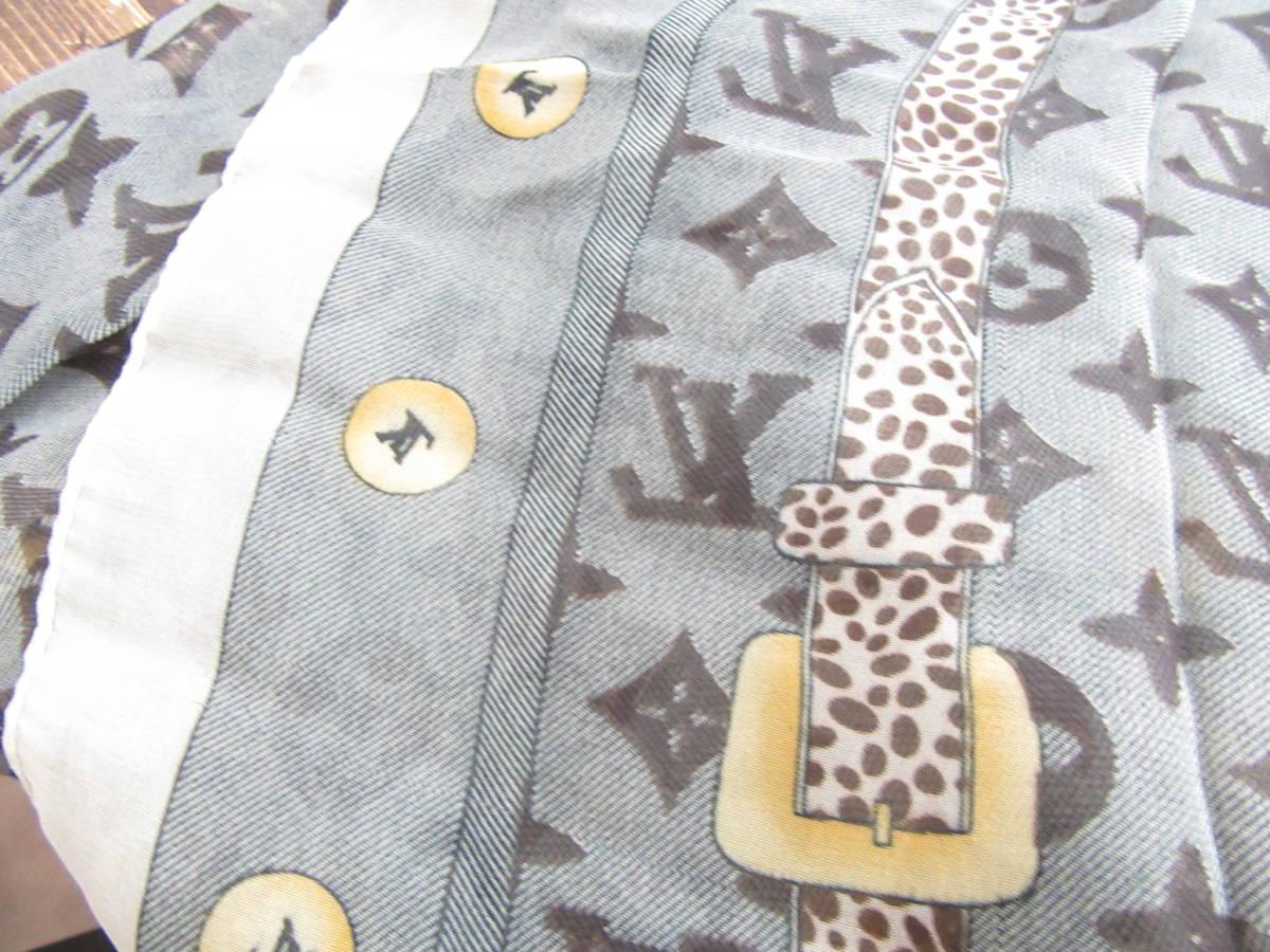 1円~☆Louis Vuitton ルイ ヴィトン スカーフ モノグラム 4-1-12_画像3