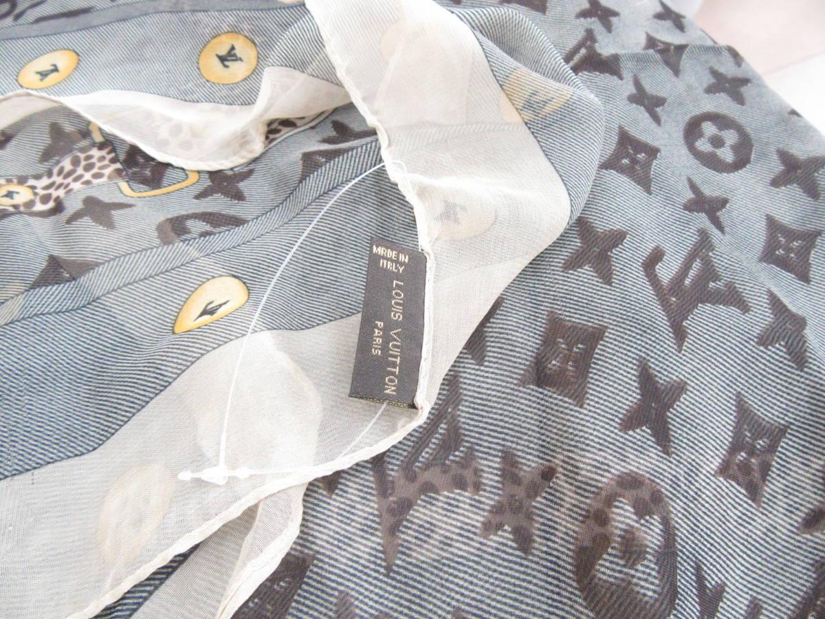 1円~☆Louis Vuitton ルイ ヴィトン スカーフ モノグラム 4-1-12_画像4
