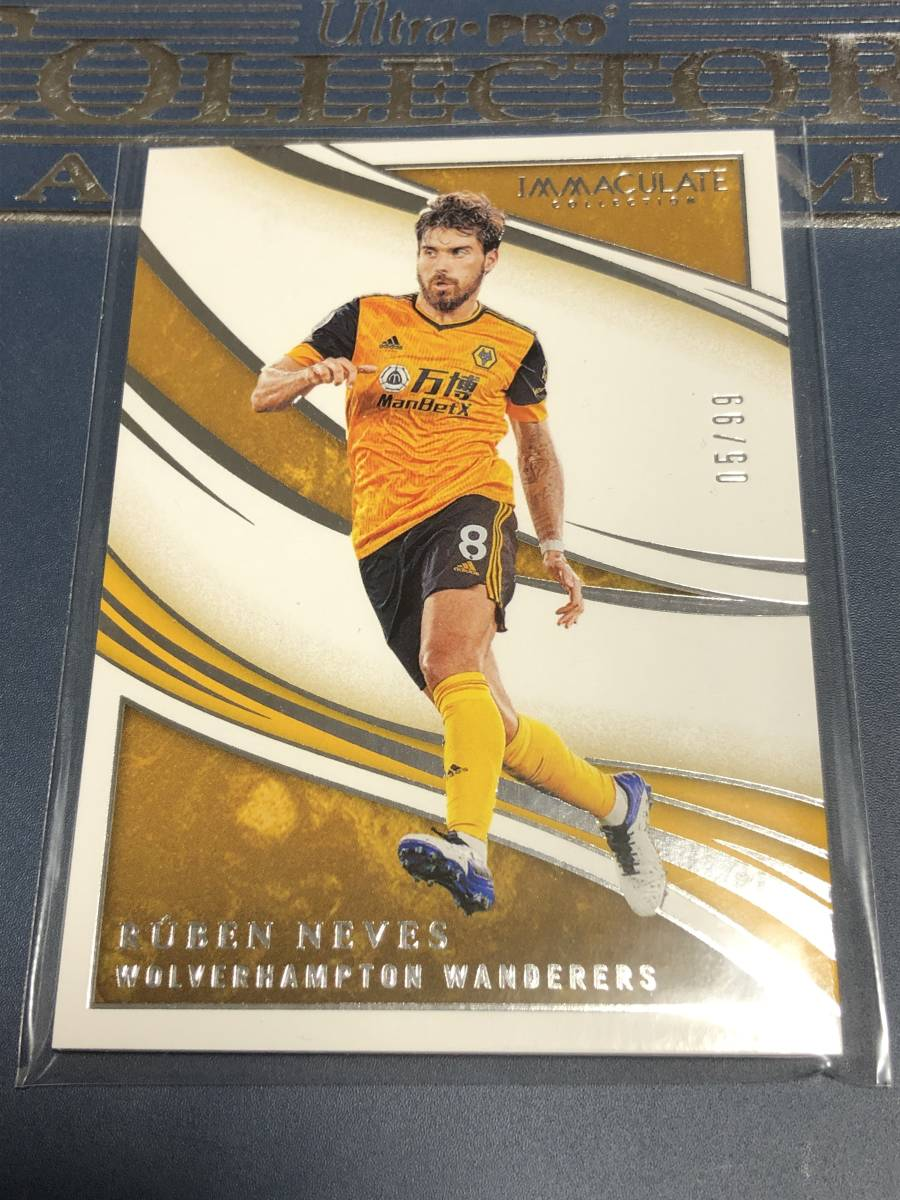 2020 Panini Immaculate Collection Soccer Ruben Neves Wolverhampton Wanderers Base カード /99枚限定 _画像1