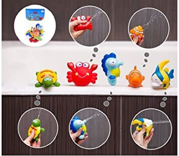 マルチカラー 赤ちゃん お風呂 おもちゃ プール 水遊び 噴水 かわいい 海の生き物 5個セット_画像3