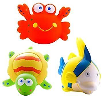 マルチカラー 赤ちゃん お風呂 おもちゃ プール 水遊び 噴水 かわいい 海の生き物 5個セット_画像5