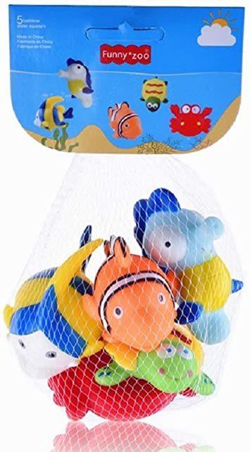 マルチカラー 赤ちゃん お風呂 おもちゃ プール 水遊び 噴水 かわいい 海の生き物 5個セット_画像2