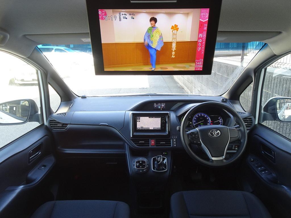 「車検満タン 27年式 ノアHV SDナビ フルセグTV DVD再生機能 Bluetooth フリップモニター バックモニター 両側Pスラ スマートキー LED ETC 」の画像3
