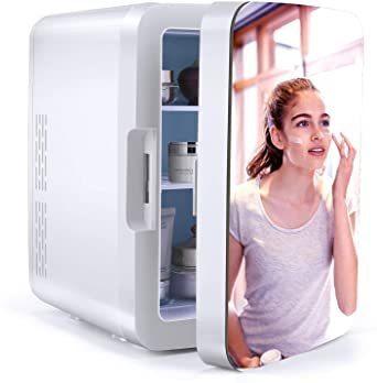 新品格安!!冷蔵庫[激安]小型[激安]10L[激安]ミニ冷蔵庫[激安]冷温庫[激安]でポータブル[激安]ミラー設計[激安]【20_画像1