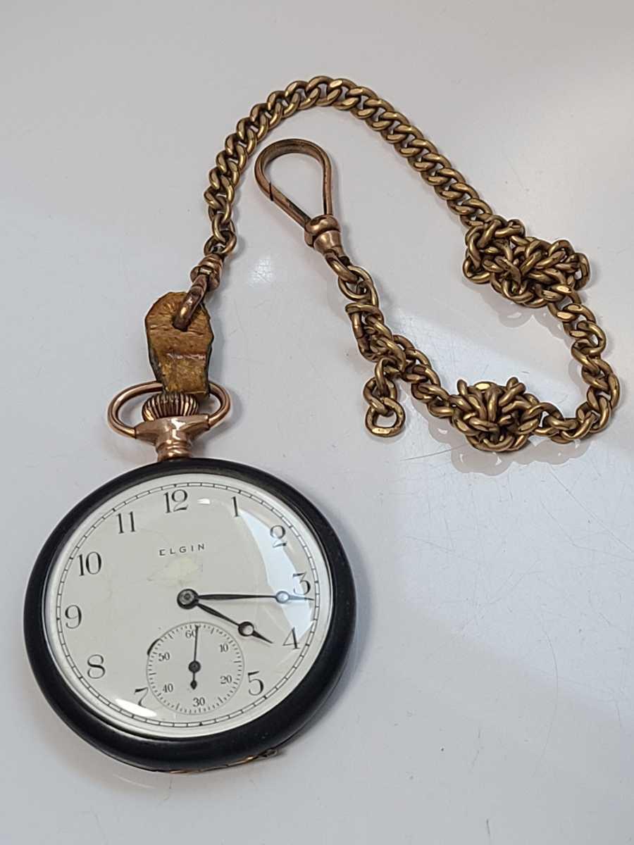 1円~ エルジン 懐中時計 手巻き ジャンク品 (CX-26)