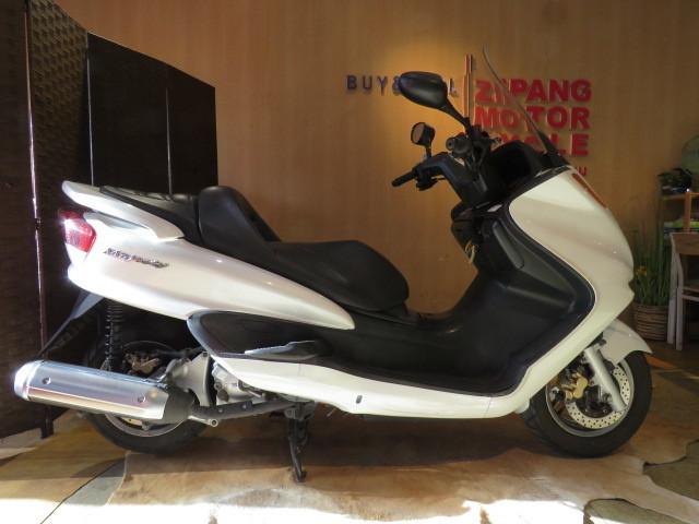 「□YAMAHA MAJESTY BA-SG03J ヤマハ マジェスティ 250cc 29748km ホワイト 実動! ビッグスクーター バイク 札幌発」の画像1