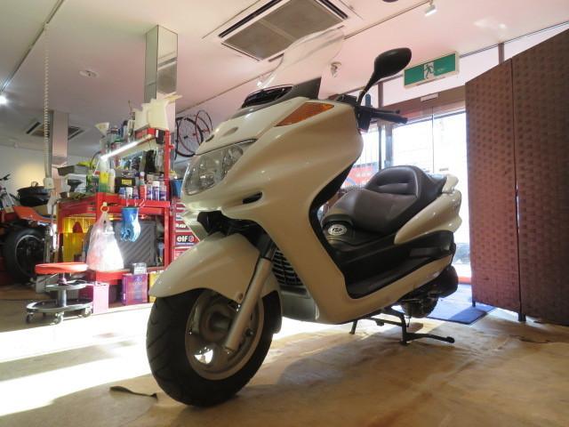 「□YAMAHA MAJESTY BA-SG03J ヤマハ マジェスティ 250cc 29748km ホワイト 実動! ビッグスクーター バイク 札幌発」の画像3