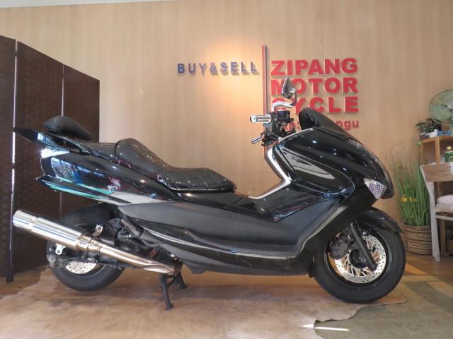 「□ヤマハ マジェスティ 250 JBK-SG20J ブラック 走行距離25060kmkm 250cc 社外マフラー 実動! ビッグスクーター バイク 札幌発」の画像1