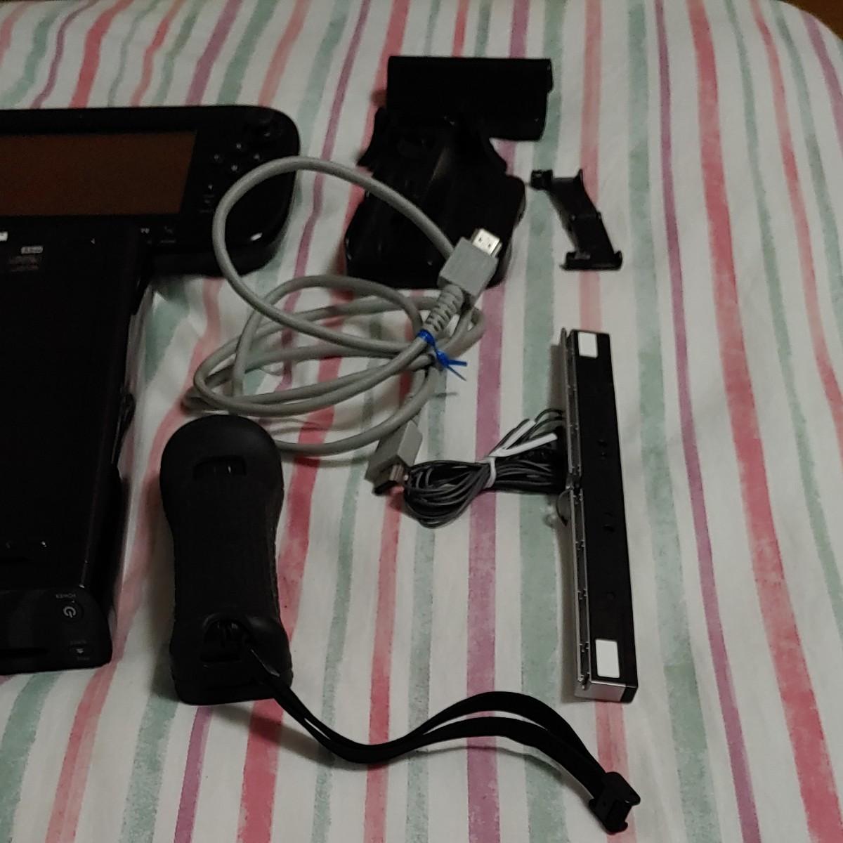 任天堂Wiiu本体32ギガ ゲームパッドセット Wiiコントローラー センサーバー