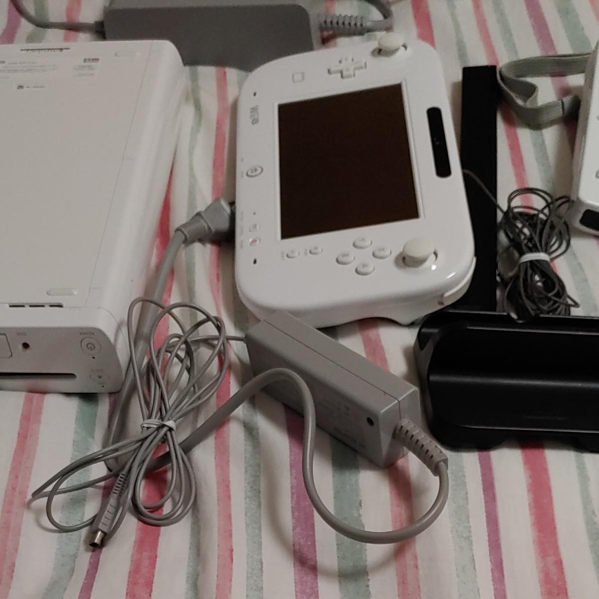 WiiU32ギガ本体  ゲームパッドセット シロ  Wiiリモコン センサーバー Nintendo