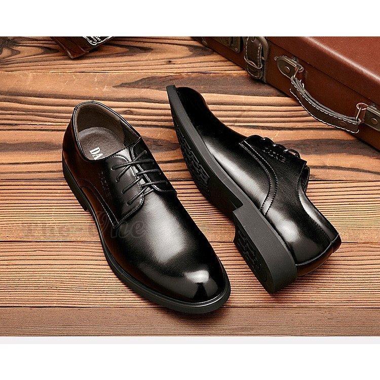 革靴 ビジネスシューズ プレーントゥ 通気性 メンズ PU靴 革靴 ビジネスシューズ 疲れない プレーントゥ 通気性 メンズ PU靴 メンズシュ