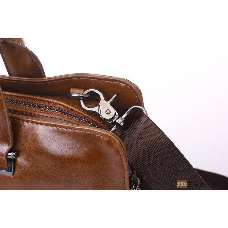 ビジネスバッグ メンズ ブリーフケース レザー 2way ビジネスバッグ メンズ ブリーフケース レザー 2way ショルダーバッグ 手提げ 斜めが
