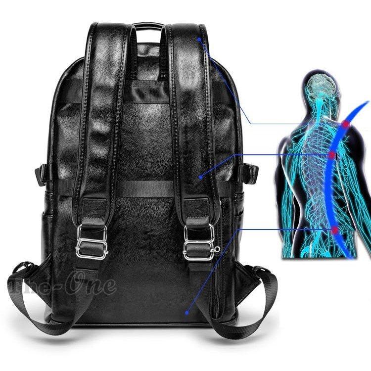 ビジネスリュック リュックサック メンズ メンズバッグ ビジネスリュック リュックサック メンズ デイパック PU革 撥水 カバン 大容量 通