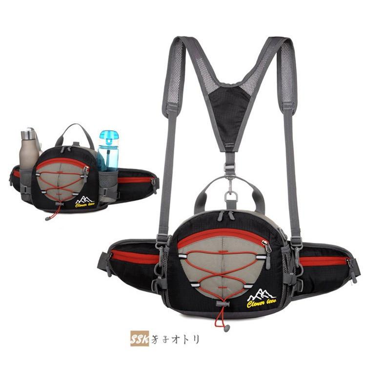 ウエストバッグ ウエストポーチ リュック 登山 ボディバッグ ウエストバッグ ウエストポーチ リュック 登山 ボディバッグ 多機能 軽量