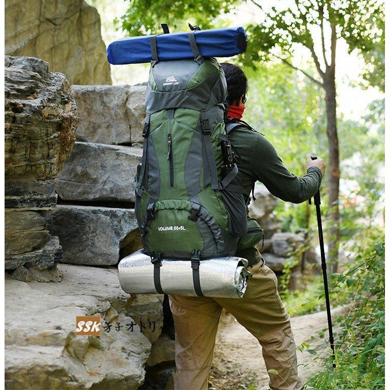 バック リュック レディース メンズ サック 大容量 バック リュック レディース メンズ サック 大容量 登山用 60L 防災 旅行 撥水 おしゃ