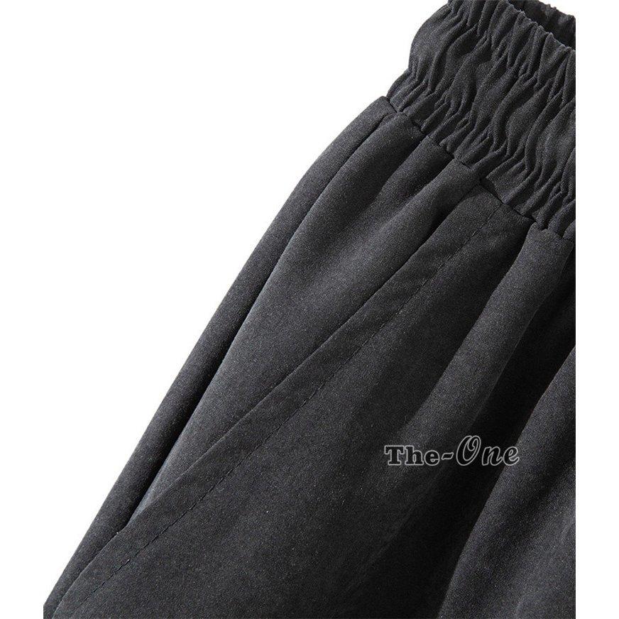 リブパンツ 無地 ウエストゴム ブラック 春物 ズボン ボトムス ジョガーパンツ メンズ カジュアルパンツ リブパンツ 無地 ウエストゴム