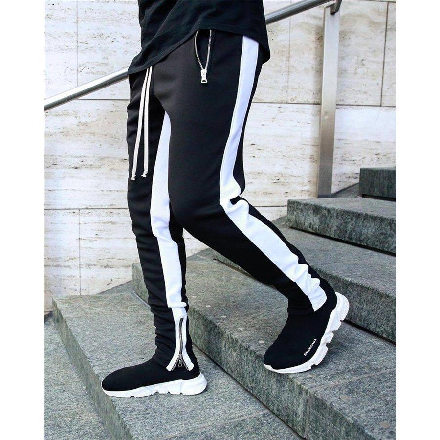 ストレッチ スキニーパンツ スリムパンツ ボトムス ジョガーパンツ メンズ ライン スウェットパンツ サイドライン 細身 ジョガー スリム