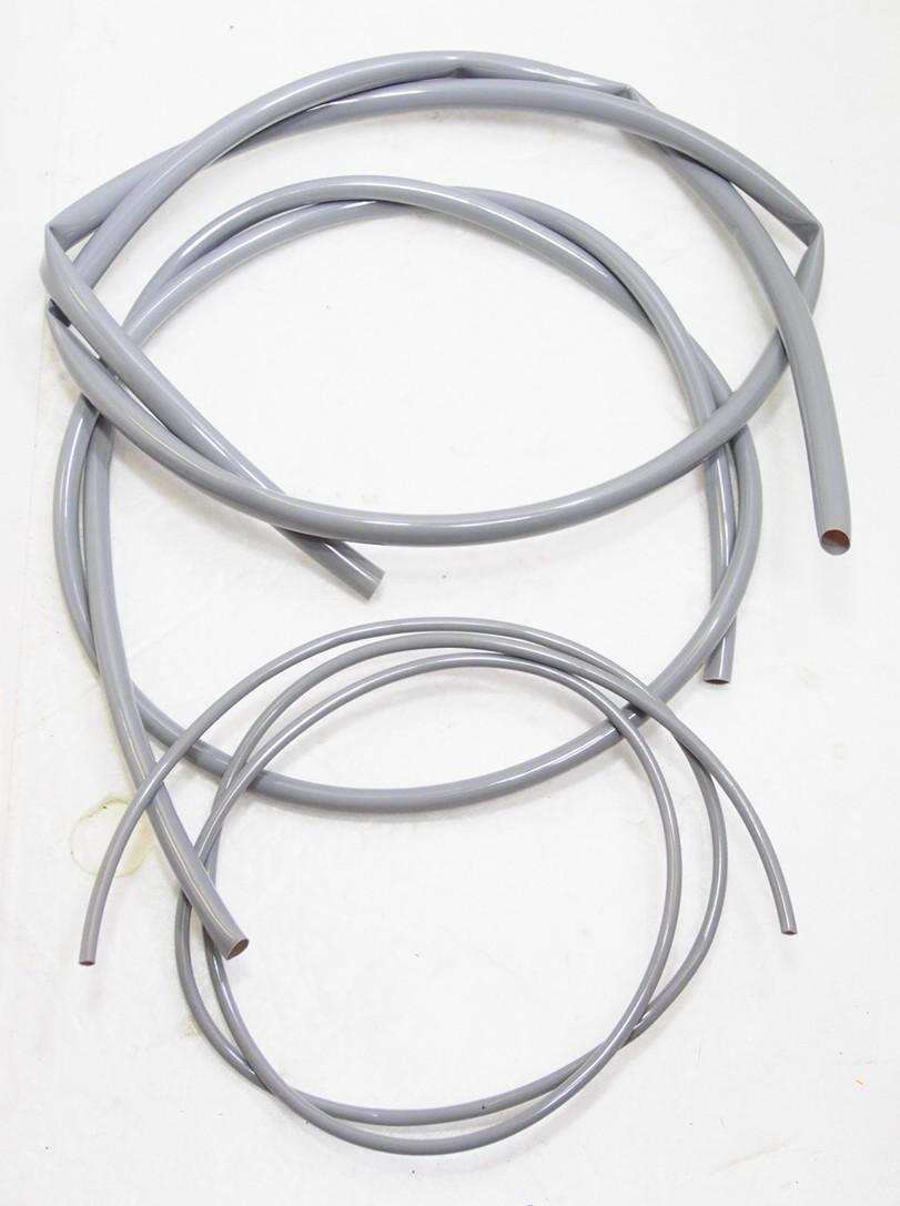 09 グレー配線チューブ 3種Set モンキー Z50M CZ100 スポカブ C100 吊りカブ CR110 SS50 CS90 CB92 CB93 CB72 CL72 CB450クジラ CB750K_グレー配線チューブ3種を各1mの計3m