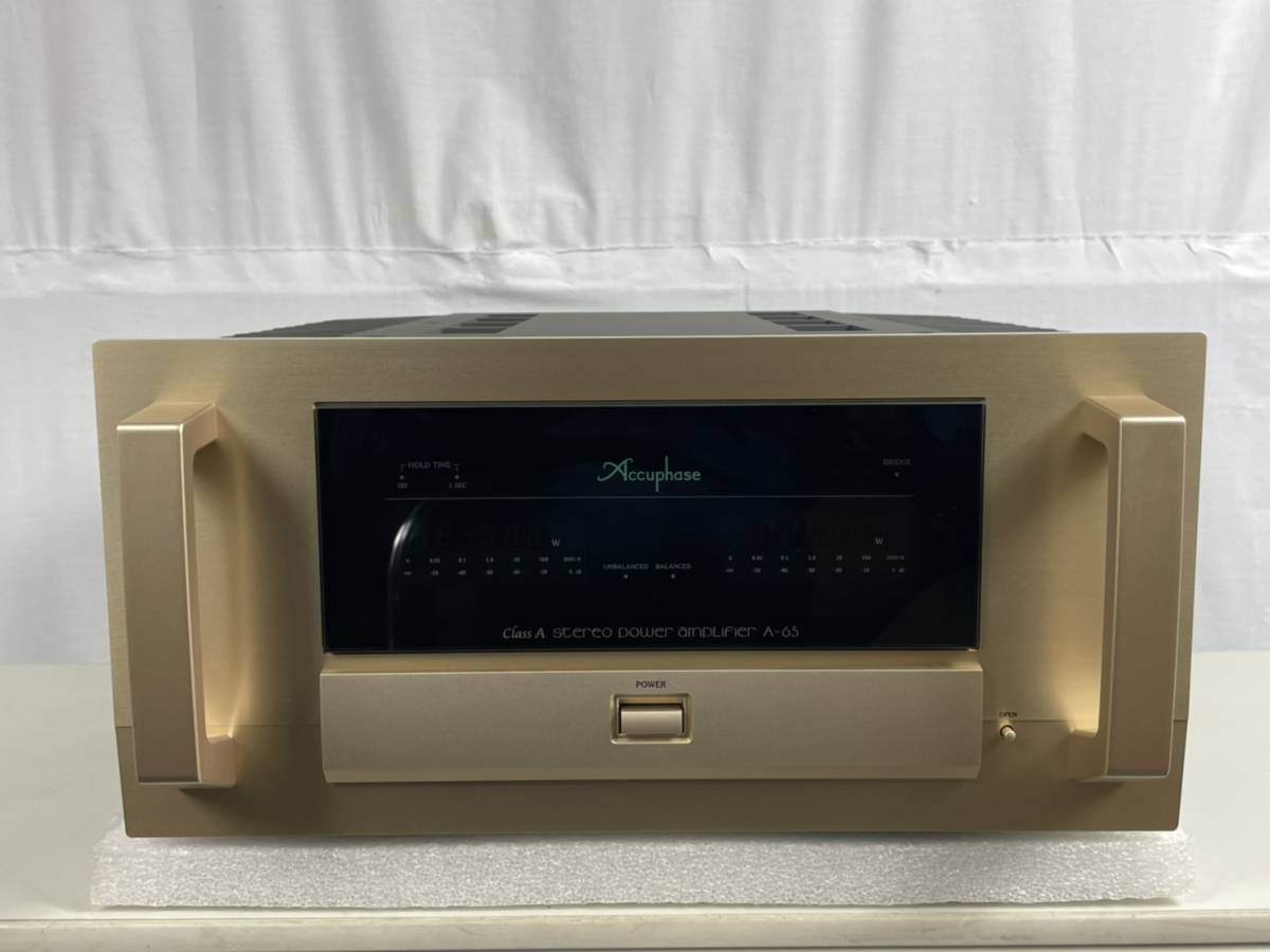 ◆◇accuphase A-65 ステレオパワーアンプ 極美品 元箱 付属品完備 動作確認済 アキュフェーズ ◇◆