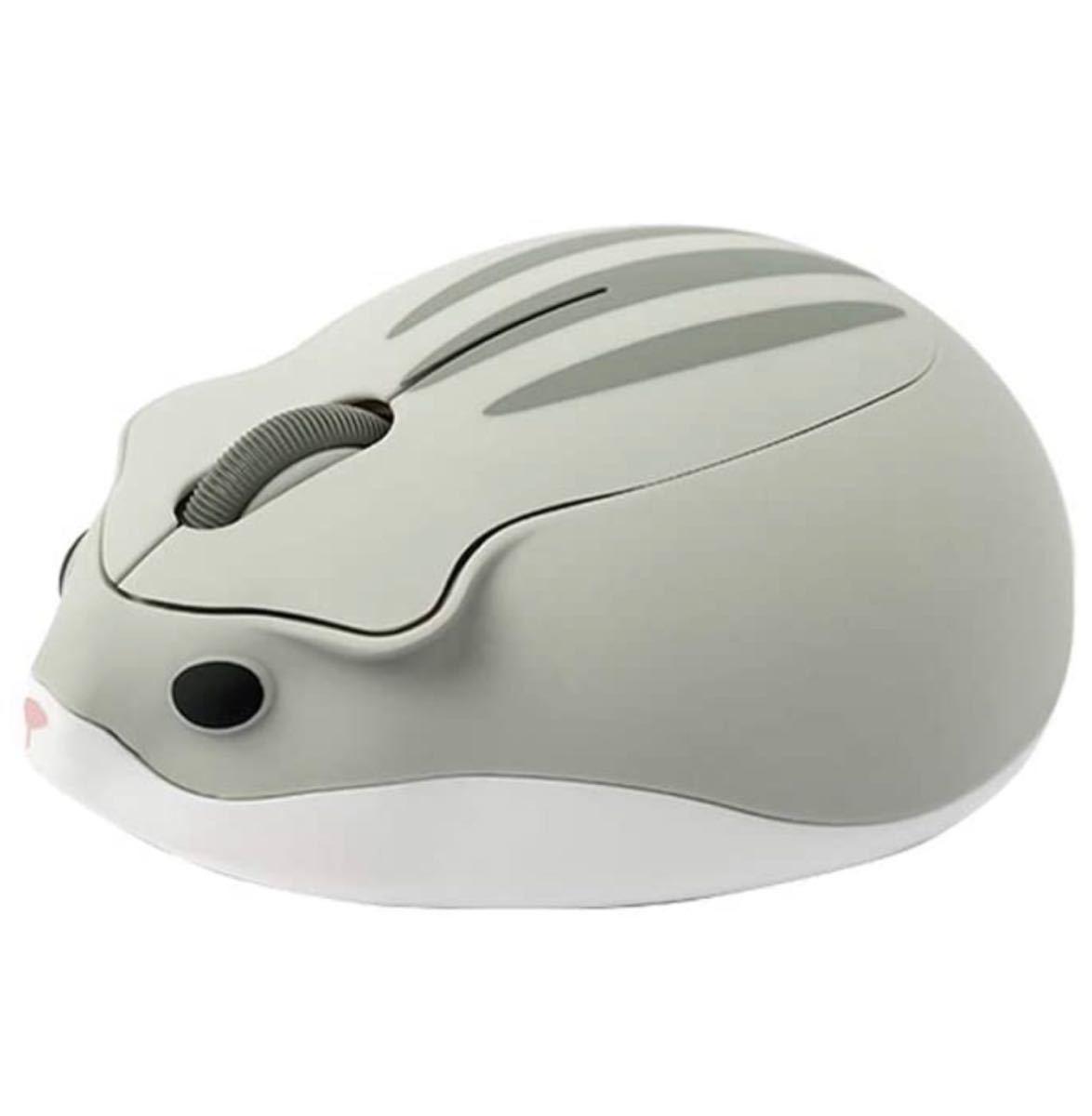マウス ワイヤレスマウス 2.4GHz 人間工学 高精度 USB式 小型 持ち運び便利 無線マウス ポータブル ハムスターの形 M